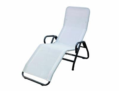 MFG 2603307 Bäderliege Pool3 Gestell grau, Bezug weiss von MFG bei Gartenmöbel von Du und Dein Garten