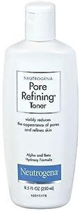 Neutrogena Pore Refining Toner, Alpha and Beta Hydroxy Formula, 8.5 Ounce (Pack of 3)