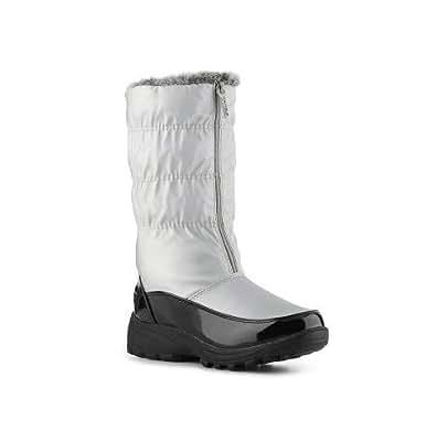 Totes - Rachel - Women's Silver Snow Boots (7, Silver)