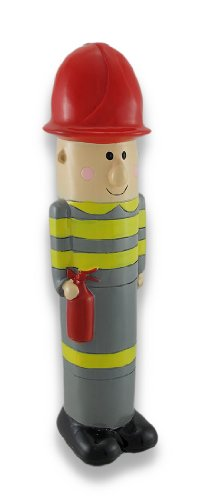Children`s Tall Fireman Coin Bank 10.25 In. - 1