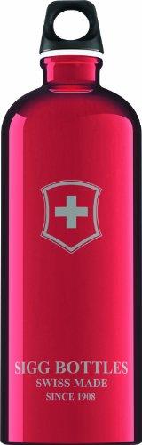 Sigg Swiss Emblem Water Bottle (Red, 1.0-Litre) front-145772