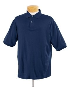 Jerzees 437 5.6 oz. 50/50 Jersey Polo with SpotShield-Large-J Navy