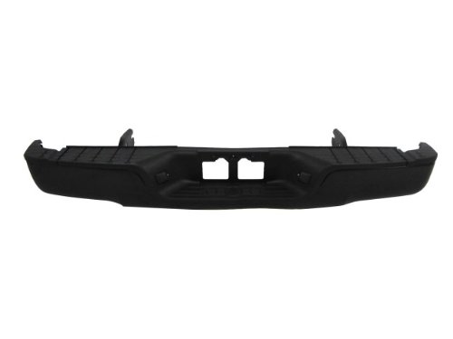 New Rear Bumper Coated Black Assembly 2007-2012 Toyota Tundra Pickup W/O Sensor Holes (Not For Factory Towing Pakage) front-600021