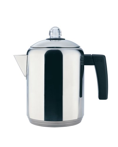 Read About Copco 4- to 8-Cup Polished Stainless Steel Stovetop Percolator, 1.5 Quart