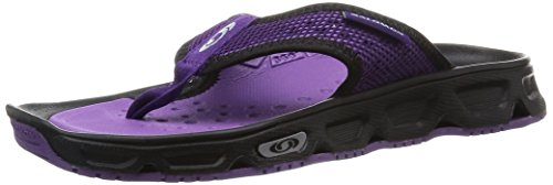 Salomon Rx Break, Sandali da Atletica Donna, Multicolore (Black/Cosmic Purple/Rain Purple), 41 1/3 EU