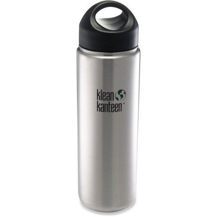 (Package Of 7) K27Wssl Klean Kanteen Stainless Steel Wide Bottle With Loop-Cap (27 Oz) front-952993