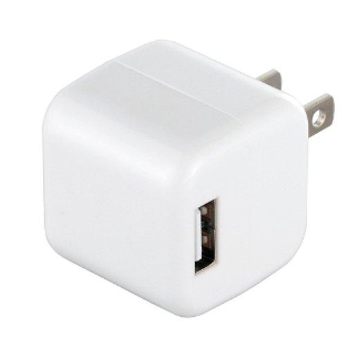 iBUFFALO USB充電器 2ポートタイプ キューブ型 ホワイト BSIPA06WH
