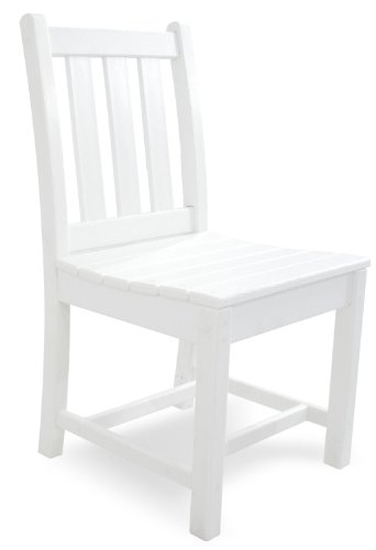Polywood Tgd100wh Traditional Garden Dining Side Chair White Furniture Chairs Arm Chairs
