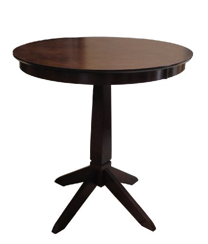 Price comparisons espresso brown wood kitchen dining bistro bar table bethanystokesnkny - Espresso kitchen table ...