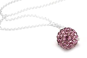 Pink Sapphire Crystals Color Necklace