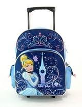 "Hot Sale 16"" Disney Princess Glass Castle Rolling Backpack-tote-bag-school"