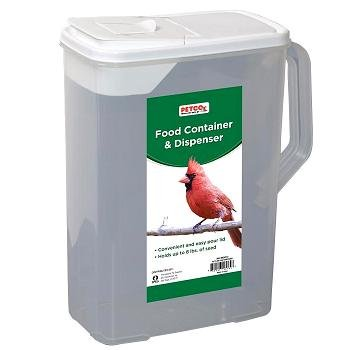 Cheap Backyard Sanctuary Bird Food Dispenser, 8 quarts, Color:Clear (B003UVZ7DQ)
