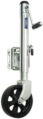 Fulton Trailer Tongue Jack, 8-Inch Poly Wheel