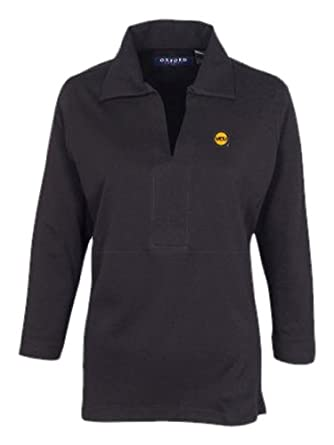 NCAA Virginia Commonwealth Rams Women's Ladies' Long Sleeve Classic Polo, Black, Medium
