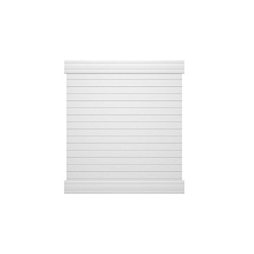 6 ft. H x 6 ft. W White Vinyl Overland Privacy Fence Panel Kit (Rail Fence Panel compare prices)