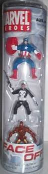 Marvel Heroes Face Off 3 pk Captain America, Punisher, & Iron Man