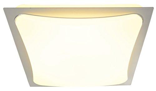 Naeve Leuchten LED Deckenleuchte 48x LED / total 24 W / 3000 K / 2150 lm / Energieeffizienzklasse A+ inklusive Treiber / 100-240 V 50-60 Hz / Lebensdauer LED bis zu 10,000 h / 41x 41x 10 cm / Material Metall / Kunststoff, silber / opal / Licht warmweiß 1160059