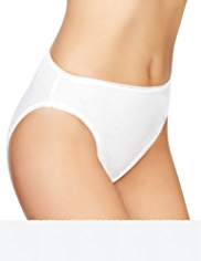 5 Pack Pure Cotton High Leg Knickers