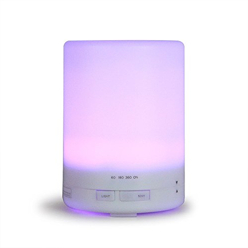 Essential Oil Diffuser, Innoo Tech 300ml 3rd Version Aromatherapy Humidifier Cool Mist Aroma Ebooks Included Long Lasting with 4 Timer Settings 7 Color LED Lights for Bedroom/Kids Room/Spa/Baby