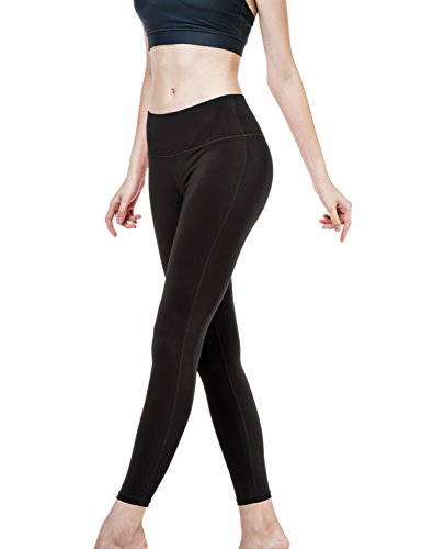 Tesla Women's Yoga Pants Leggings Hidden Pocket YP06-BLK_Medium j-L