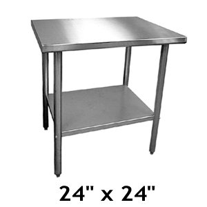 "24"" x 24"" Stainless Steel Worktable (16-0149) Category: Metal Folding and Utility Tables"