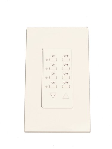 Leviton Cd250-C Dali Controller On/Off, Dimming, Scene Control, Input For Use With Dali Compatible Ballasts, Compatible With 8 Button On/Off, Dim/Bright Face Installed