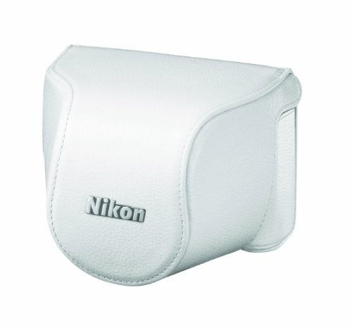 Nikon-CB-N2000SB-WH-White-Leather-Body-Case-Set-for-Nikon-1-J1-Japanese-Import
