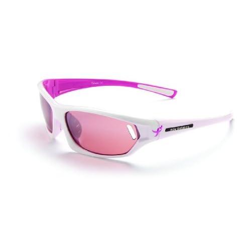 Amazon Com New Balance Sun 6062 Ribbon Susan G Komen Sunglasses Brown Shiny White With Pink