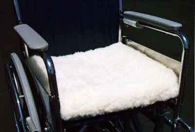 MediWool Wheelchair Cushion Cover 19X19, Wool Fleece