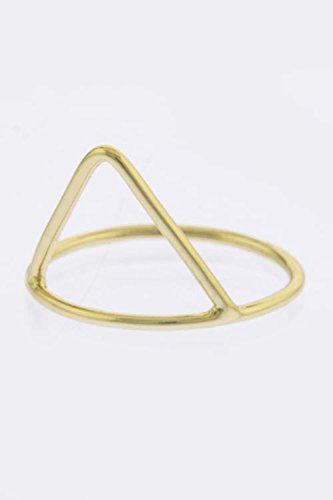 Karmas Canvas Simple Triangle Design Ring (Silver)