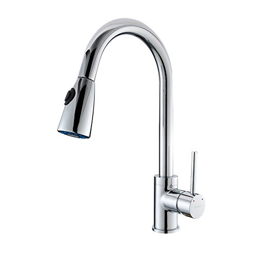 VAPSINT® Chrome Kitchen Sink Pull Out Spray Mixer Tap