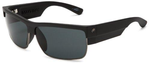 Electric Visual Mutiny Sunglasses,Matte Black Frame/Grey Lens,One Size