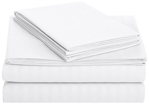 amazonbasics-deluxe-microfiber-striped-sheet-set-bright-white-full