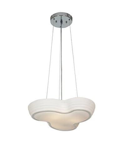 Access Lighting Pebble 1-Light LED Damp Location Pendant, Chrome/Opal