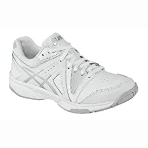 ASICS Gel-Gamepoint GS Tennis Shoe (Little Kid/Big Kid),White/Silver/White,4.5 M US Big Kid