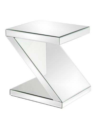 Image of Howard Elliott 11092 Z-Shaped Mirrored End Table (B005KTHBZI)