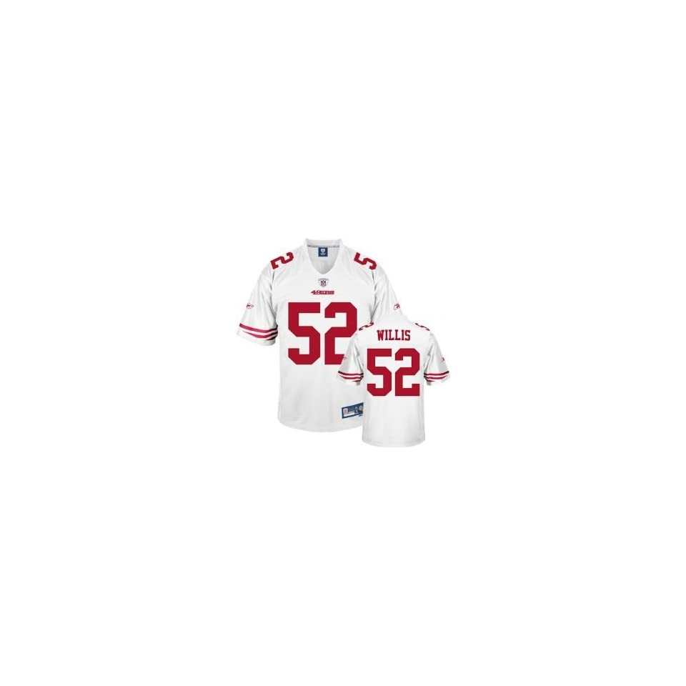 newest 3160e faf39 Patrick Willis White NFL Stitched Name & Number San ...