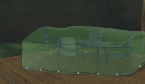 premium abdeckung gartenm bel schutzh lle f r sitzgruppe rechteckig 295x210cm g nstige. Black Bedroom Furniture Sets. Home Design Ideas