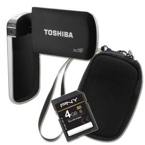 TOSHIBA S40 Caméscope FULL HD + Etui + SD 4 Go