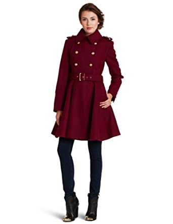 miss sixty women 39 s cassie coat raspberry large at amazon. Black Bedroom Furniture Sets. Home Design Ideas