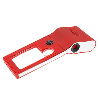 Xs Multifunctional Adjustable Magnifier 55X Microscope With Uv And White Light (Red)