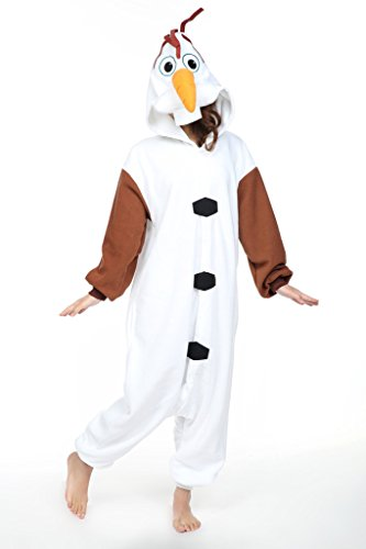 Olaf Adults Cosplay Costume Pajamas