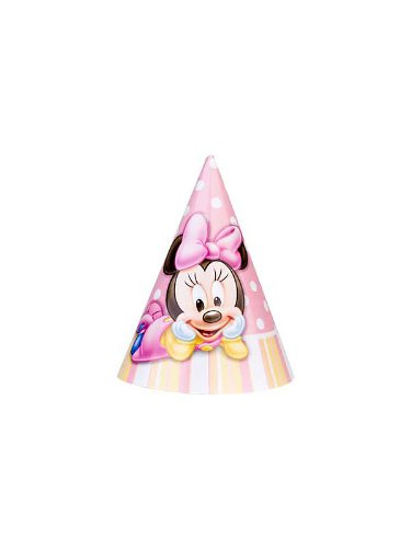 Minnie's 1st Birthday Party Hats (8-pack)