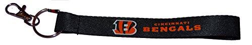Official Nfl Cincinnati Bengals Wristlet Lanyard Keychain Key Ring