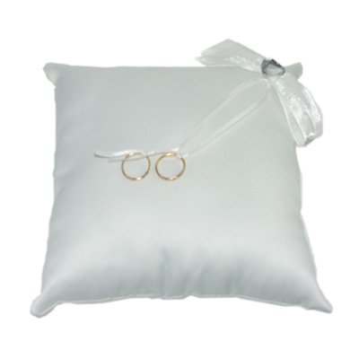 Ivory Ring Cushion  Crystals & Heart (XNB004)