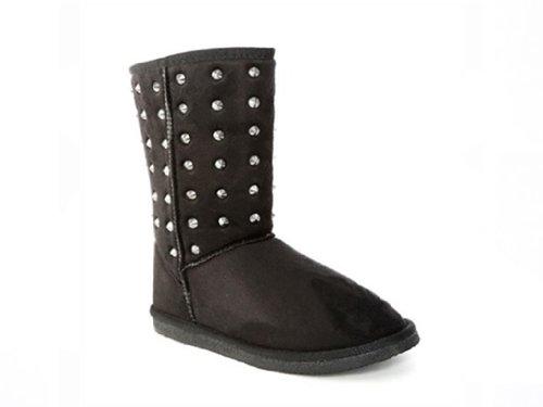 New! Metal Stud Flat Boots