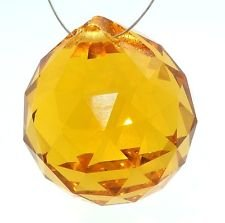 40mm Asfour Crystal Ball Prisms #701-40 (Amber) - 1