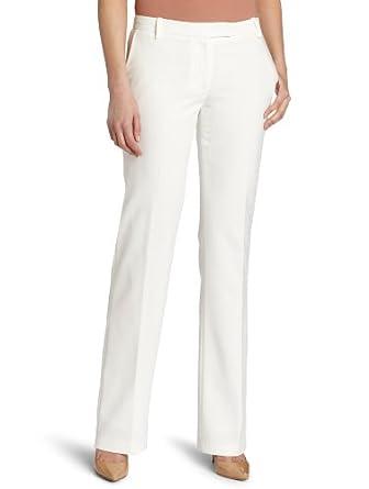 Calvin Klein Women's MSY Madison Pant, Winter White, 2