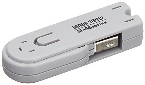 サンワサプライ USBコネクタ取付けセキュリティ SL-46-W