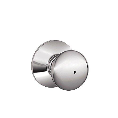 Schlage F40PLY625 Plymouth Privacy Knob, Bright Chrome (Chrome Bathroom Door Knob compare prices)